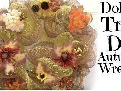 DIY | Dollar Tree |Deco Mesh | Fall | Wreath