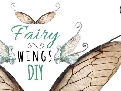 DIY Fairy Wings for Dolls or Jewelry; Realistic Insect & Polymer Clay Doll Wings Tutorial