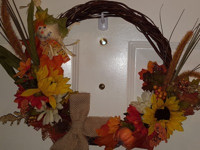 DIY Fall Dollar Tree Wreath