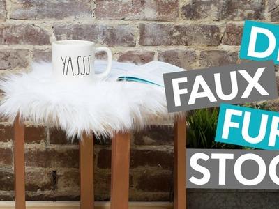 DIY FAUX FUR STOOL | TUMBLR INSPIRED DIY