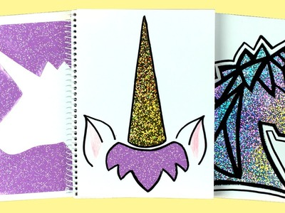 DIY: Holo Unicorn Notebook Covers! DIY Back to School Supplies | Cutify DIY #7