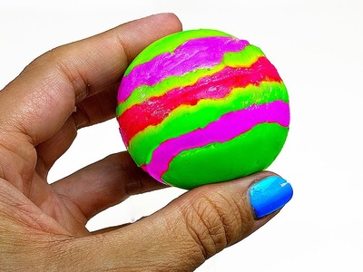 DIY: How to Make Your Own STRIPED BOUNCY BALL WITH BORAX!! Super Bouncy, Just 4 Ingredients!