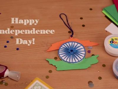DIY Independence Day Foam Flag