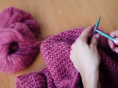 DIY Ingenua: Easy Garter Stitch Poncho Knitting Pattern