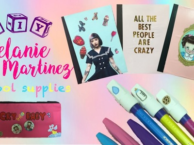 DIY Melanie Martinez School Supplies - Notebooks, Pencil Case & Erasers | EASY Back To school DIY's