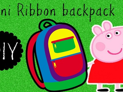 DIY Mini backpacks for Peppa Pig and LPS toys. Mini backpack hair clip?!