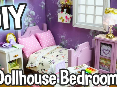 DIY Miniature Dollhouse Kit Cute Bedroom Roombox with Working Lights!. Relaxing Crafts