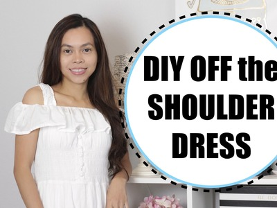 DIY Off the Shoulder Dress, Sewing Project for Beginners, Zero Dollar Challenge