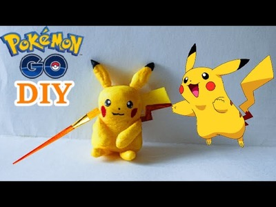 DIY Pikachu from Polymer Clay - How to make a Pokemon GO figure, tutorial! Do it yourself craft kids