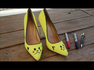 DIY Pikachu Inspired Heels Pokemon Shoes