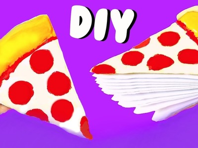 DIY PIZZA NOTEBOOK (from scratch) | Back to School Supplies 2016