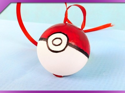 DIY Poke ball backpack pendant (ENG Subtitles) - Speed up #246