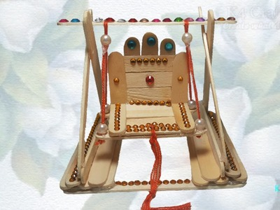 DIY: Popsicle Stick. Ice Stick - Lord Ganesha (Ganpati) decoration for Ganesh Chaturthi
