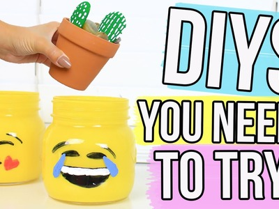 DIY PROJECTS YOU NEED TO TRY BEFORE SCHOOL STARTS !!