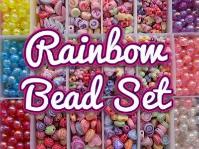 DIY Rainbow Beads Set Creations