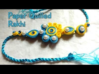DIY Rakhi Making With Paper Quilling For Raksha Bandhan | How To | CraftLas