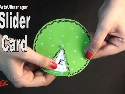 DIY Slider Card for Scrapbook | How To Make  | JK Arts 1027