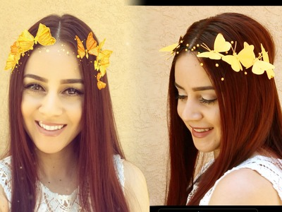 DIY Snapchat Butterfly Crown || Lucykiins