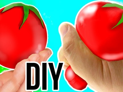 DIY  Squishy Tomato Stress Ball! Incredibly Stretchy!