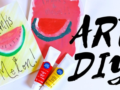 DIY Watermelon Art