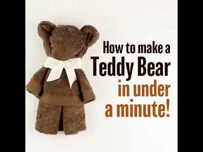 DIY: Who knew you could make a cute teddy bear with a towel?!