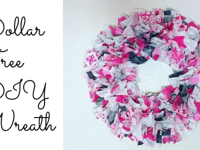 Dollar Tree Fabric.Rag Wreath| Easy DIY!