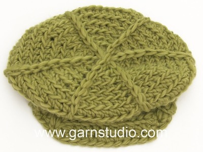 DROPS Crocheting Tutorial: How to work a cap
