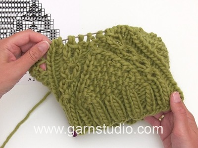 DROPS Knitting Tutorial: How to work chart A.1B and A.2 for the hat in DROPS 171-18