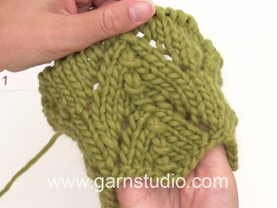 DROPS Knitting Tutorial: How to work the neck warmer in DROPS 173-26