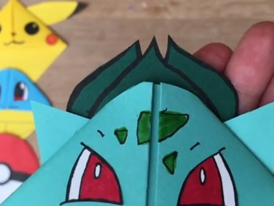 Easy Bulbasaur DIY - Pokemon Bookmark - Origami Inspired - Pokemon Go