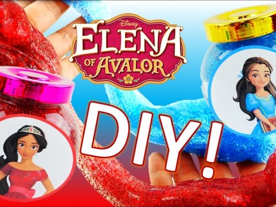 Easy DIY Princess Elena and Isabel Glitter Slime! How to make Elena of Avalor Putty Jar