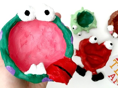 Easy Monster Pinch Pots - DIY Clay Projects - Gifts Kids Can Make