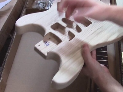 Ebay diy guitar stratocaster build kit review