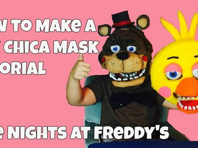 Five Nights at Freddy's: How to Make 'Toy Chica Mask' DIY Tutorial