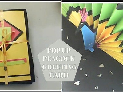 Greeting card DIY || Pop up peacock card || 3D Gift card