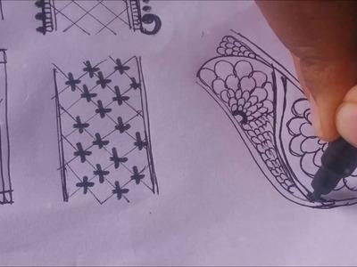 Heena basics | #9 DIY Henna Design | Henna.Mehndi Tutorial | Learn basic border embellishment
