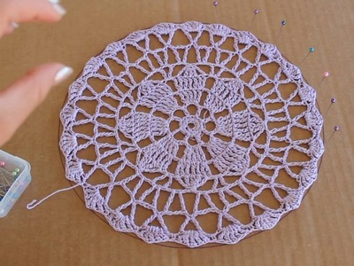 How I Block A Crochet Doily