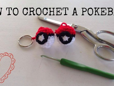 How to Crochet a CUTE Pokeball Keychain