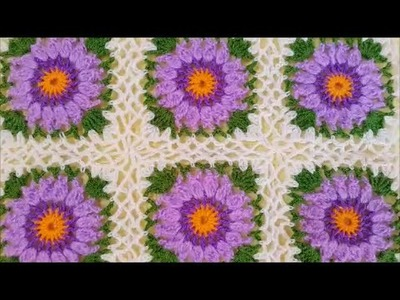 How to crochet a granny square baby blanket