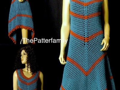 How to Crochet a Maxi Dress Pattern #6│by ThePatterfamily