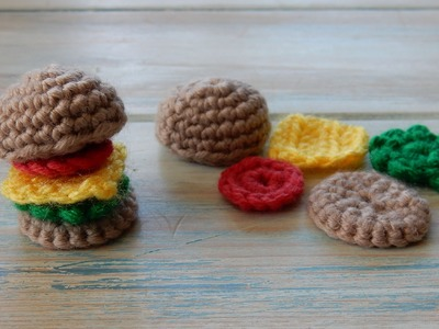 How to Crochet a Mini Burger