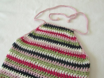 How to crochet an EASY halter neck top - any size