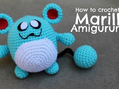 How to crochet Marill Amigurumi | World Of Amigurumi