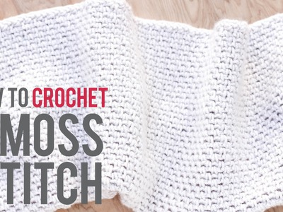 How to Crochet the Moss Stitch: Beginner-Friendly Tutorial
