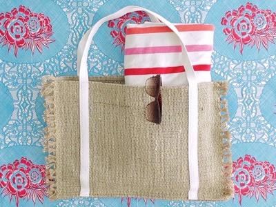 How to make a Beach Bag, from a Placemat
