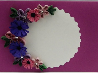 How to make a greeting card with quilling flowers DIY (tutorial + free pattern)