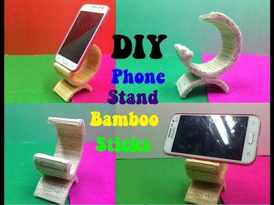 How to make a Phone Stand using Bamboo Sticks - DIY