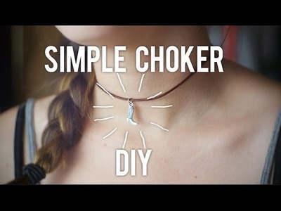 How to Make a Simple Choker : DIY