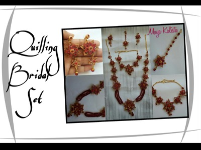 How to make DIY  Paper Quilling Jewellery set - Bridal Necklace - Quilling Tutorial!