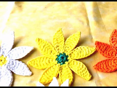 How To Make Flower in Crochet Tutorial | Easy Crochet Flower | Crochet In Flower
